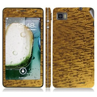 Snooky 18709 Mobile Skin Sticker For Lenovo K860 - Gold