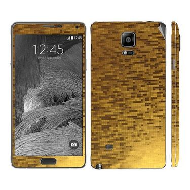 Snooky 19257 Mobile Skin Sticker For Samsung Galaxy Note 4 - Golden