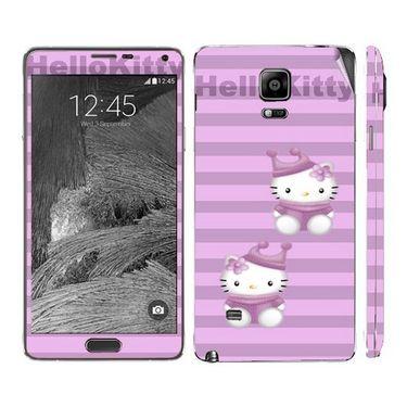 Snooky 39487 Digital Print Mobile Skin Sticker For Samsung Galaxy Note 4 - Purple