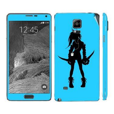 Snooky 39490 Digital Print Mobile Skin Sticker For Samsung Galaxy Note 4 - Blue
