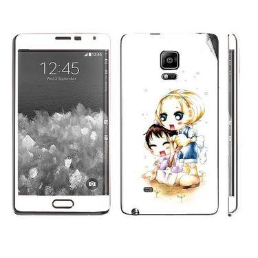 Snooky 39505 Digital Print Mobile Skin Sticker For Samsung Galaxy Note EDGE - White