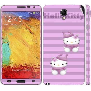 Snooky 39511 Digital Print Mobile Skin Sticker For Samsung Galaxy Note 3 Neo - Purple