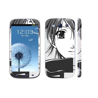 Snooky 39542 Digital Print Mobile Skin Sticker For Samsung Galaxy S3 I9300 - Grey