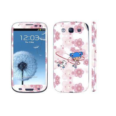 Snooky 39544 Digital Print Mobile Skin Sticker For Samsung Galaxy S3 I9300 - White
