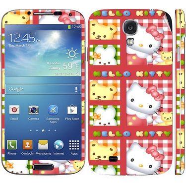Snooky 39546 Digital Print Mobile Skin Sticker For Samsung Galaxy S4 I9500 - Pink