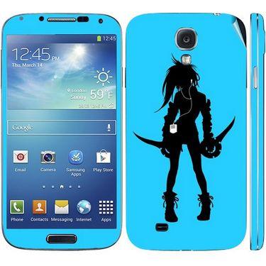 Snooky 39550 Digital Print Mobile Skin Sticker For Samsung Galaxy S4 I9500 - Blue