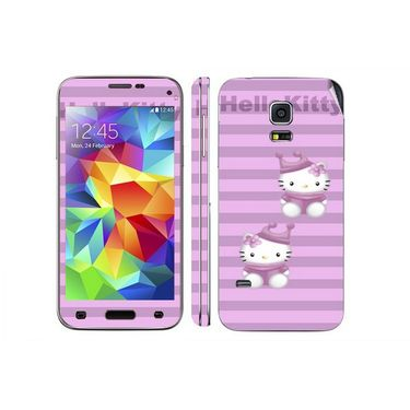 Snooky 39619 Digital Print Mobile Skin Sticker For Samsung Galaxy S5 - Purple