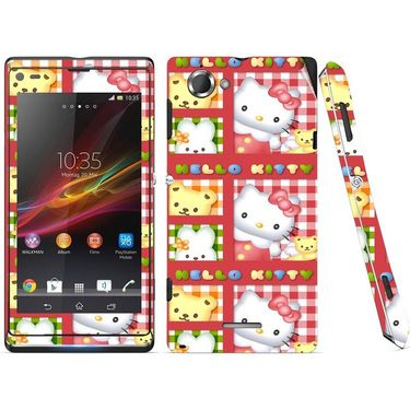Snooky 39666 Digital Print Mobile Skin Sticker For Sony Xperia L S36h C2105 - Pink