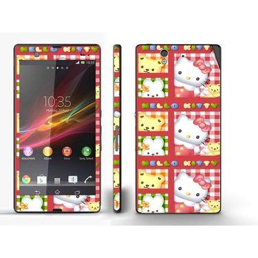 Snooky 39726 Digital Print Mobile Skin Sticker For Sony Xperia Z - Pink