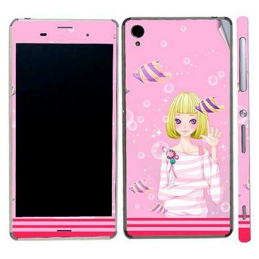 Snooky 39768 Digital Print Mobile Skin Sticker For Sony Xperia Z3 - Pink