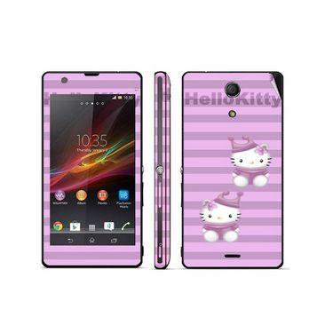 Snooky 39811 Digital Print Mobile Skin Sticker For Sony Xperia ZR - Purple
