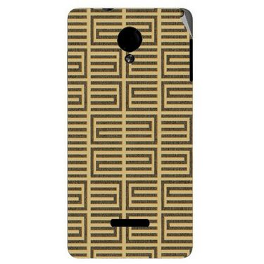 Snooky 40280 Digital Print Mobile Skin Sticker For Micromax Canvas Fun A74 - Brown