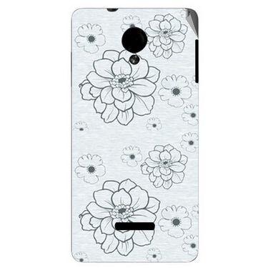 Snooky 40287 Digital Print Mobile Skin Sticker For Micromax Canvas Fun A74 - Grey