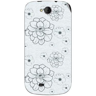Snooky 40371 Digital Print Mobile Skin Sticker For Micromax Canvas Elanza A93 - Grey