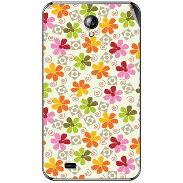 Snooky 40390 Digital Print Mobile Skin Sticker For Micromax Superfone A101 - White