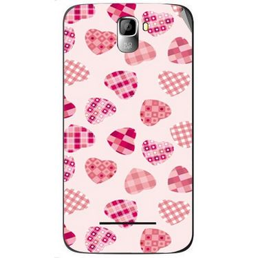 Snooky 40564 Digital Print Mobile Skin Sticker For Micromax Canvas Entice A105 - White