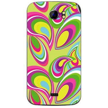 Snooky 40589 Digital Print Mobile Skin Sticker For Micromax Canvas 2 A110 - multicolour