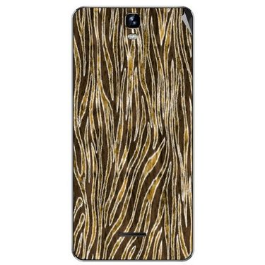 Snooky 40671 Digital Print Mobile Skin Sticker For Micromax Canvas HD Plus A190 - Brown