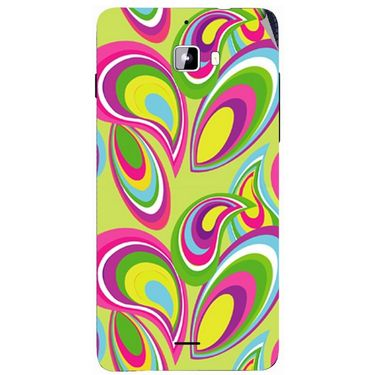 Snooky 40729 Digital Print Mobile Skin Sticker For Micromax Canvas Nitro A310 - multicolour