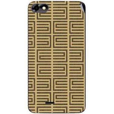 Snooky 40770 Digital Print Mobile Skin Sticker For Micromax Bolt D321 - Brown
