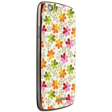 Snooky 40866 Digital Print Mobile Skin Sticker For XOLO A510S - White