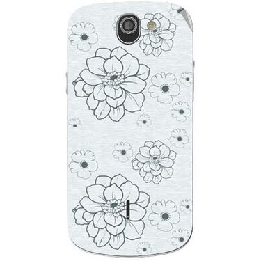 Snooky 40987 Digital Print Mobile Skin Sticker For XOLO Q600 - Grey