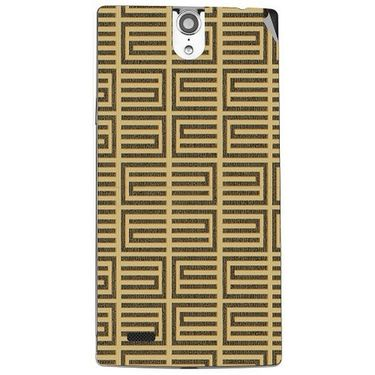 Snooky 41120 Digital Print Mobile Skin Sticker For XOLO Q1010i - Brown