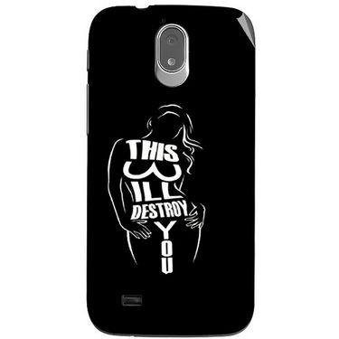 Snooky 41185 Digital Print Mobile Skin Sticker For XOLO Play T1000 - Black