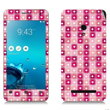 Snooky 41209 Digital Print Mobile Skin Sticker For Asus Zenfone 5 A501CG - Pink