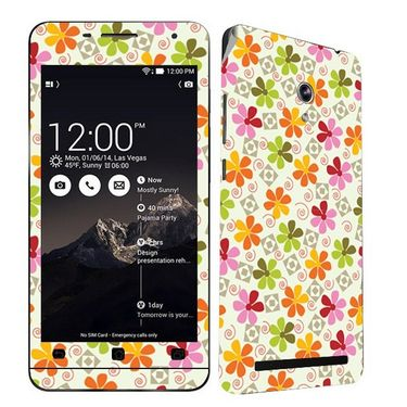 Snooky 41216 Digital Print Mobile Skin Sticker For Asus Zenfone 6 A600CG/A601CG - White
