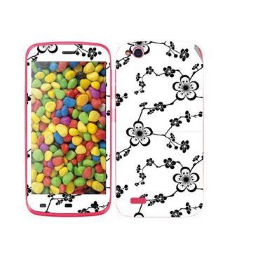 Snooky 41252 Digital Print Mobile Skin Sticker For Gionee Elife E3 - White