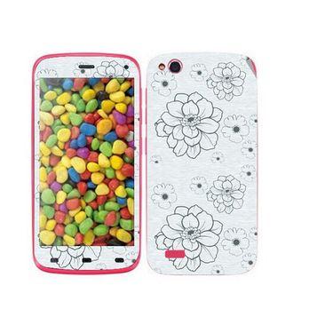 Snooky 41253 Digital Print Mobile Skin Sticker For Gionee Elife E3 - Grey