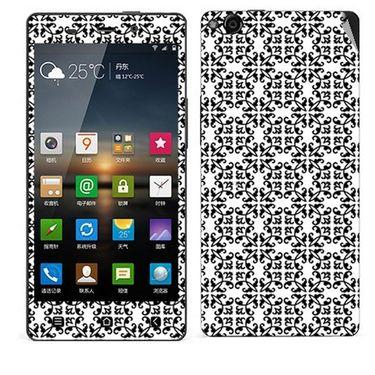 Snooky 41256 Digital Print Mobile Skin Sticker For Gionee Elife E6 - White