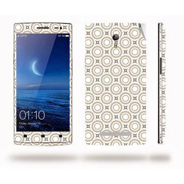 Snooky 41299 Digital Print Mobile Skin Sticker For OPPO Find 7 X9076 - Brown
