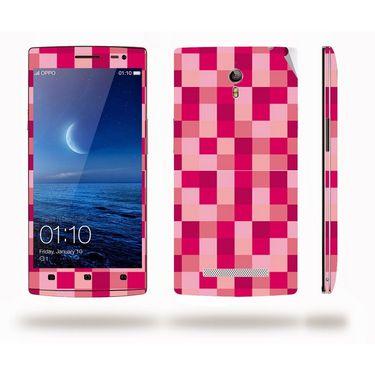 Snooky 41305 Digital Print Mobile Skin Sticker For OPPO Find 7 X9076 - Purple