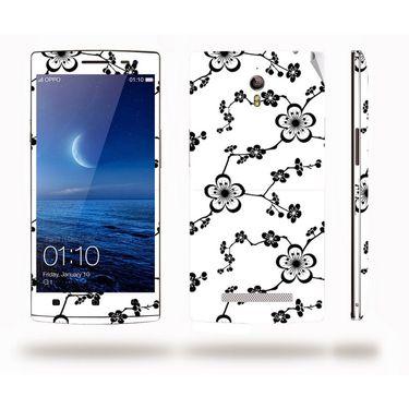 Snooky 41308 Digital Print Mobile Skin Sticker For OPPO Find 7 X9076 - White