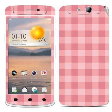 Snooky 41318 Digital Print Mobile Skin Sticker For OPPO N1 Mini - Pink