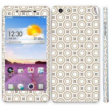 Snooky 41341 Digital Print Mobile Skin Sticker For OPPO R1 R829t - Brown