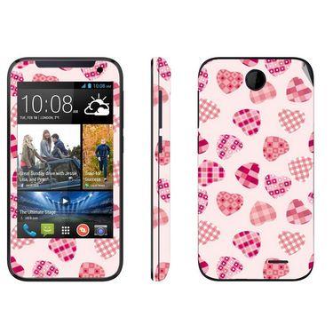 Snooky 41376 Digital Print Mobile Skin Sticker For HTC Desire 310 - White