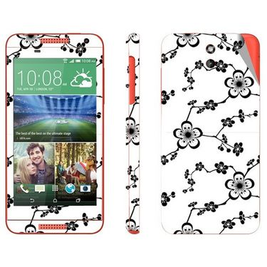 Snooky 41392 Digital Print Mobile Skin Sticker For HTC Desire 610 - White