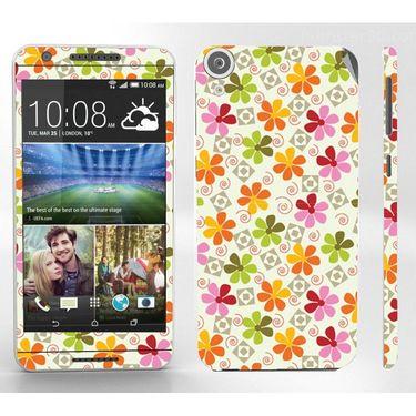 Snooky 41398 Digital Print Mobile Skin Sticker For HTC Desire 820 - White