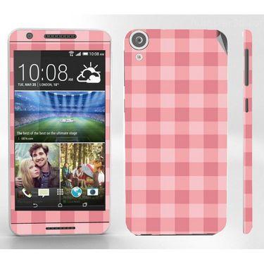 Snooky 41402 Digital Print Mobile Skin Sticker For HTC Desire 820 - Pink