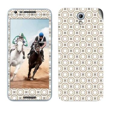 Snooky 41453 Digital Print Mobile Skin Sticker For HTC Desire 820 mini - Brown