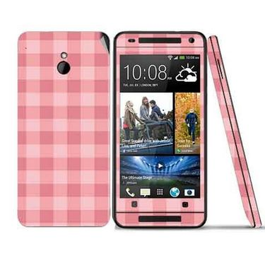 Snooky 41500 Digital Print Mobile Skin Sticker For HTC One mini - Pink