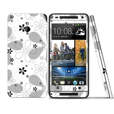 Snooky 41506 Digital Print Mobile Skin Sticker For HTC One mini - White