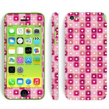Snooky 41531 Digital Print Mobile Skin Sticker For Apple Iphone 5C - Pink