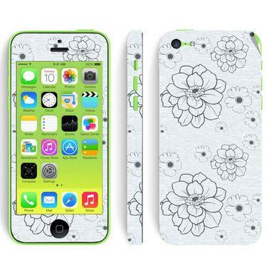 Snooky 41533 Digital Print Mobile Skin Sticker For Apple Iphone 5C - Grey
