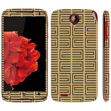 Snooky 41582 Digital Print Mobile Skin Sticker For Lenovo S820 - Brown