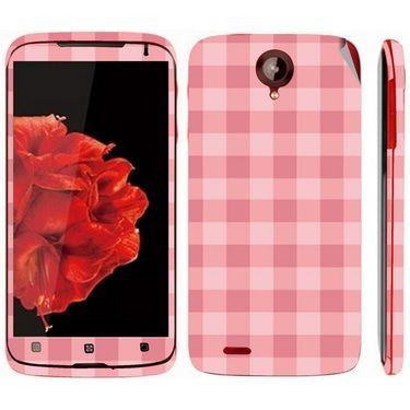 Snooky 41584 Digital Print Mobile Skin Sticker For Lenovo S820 - Pink