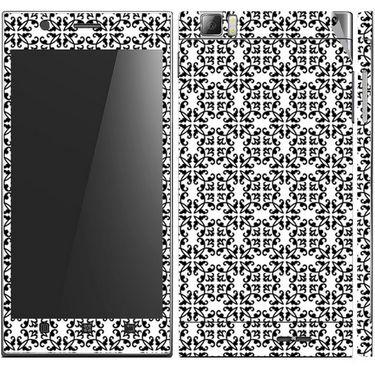 Snooky 41620 Digital Print Mobile Skin Sticker For Lenovo K900 - White